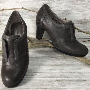 Naturalizer Gray Heel Bootie Loafer Shoes 7.5